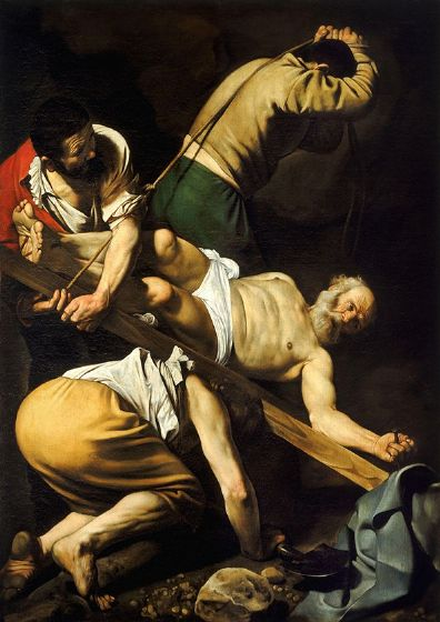 Caravaggio, Michelangelo Merisi da: Crucifixion of Saint Peter. Fine Art Print/Poster. Sizes: A4/A3/A2/A1 (002081)